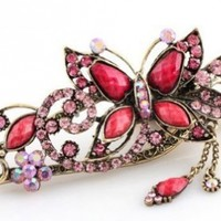 Lovely Vintage Jewelry Crystal Butterfly Hairpins Hair stick - for hair Beauty Tools