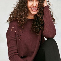 Silence + Noise Cooper Destructed Sweater - Urban Outfitters