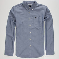 Rvca That'll Do Oxford Mens Shirt Distant Blue  In Sizes