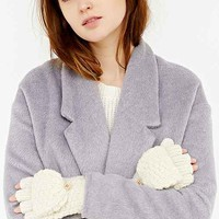 Shimmery Knit Convertible Glove- Ivory One
