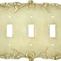 MARIAH WHITE Switchplates Outlet Covers I 3 Toggle