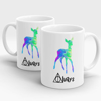 Harry Potter Always Watercolor mug,Valentine's day gift.  Kids mug, Harry Potter deer mug, Harry Potter quote mug, Unique gift Harry Poter