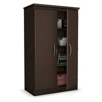 5-Ft Storage Cabinet Wardrobe Armoire for Bedroom Office or Garage in Chocolate