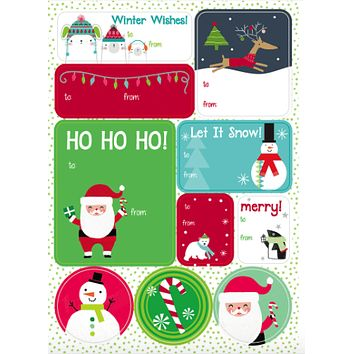 Oh What Fun! Label Sheets