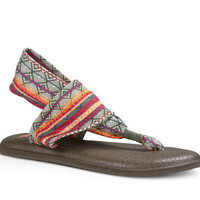 Sanuk Yoga Sling 2 Prints Olive Multi Tribal Sandals