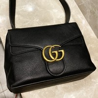 GUCCI New fashion leather shoulder bag women crossbody bag Black