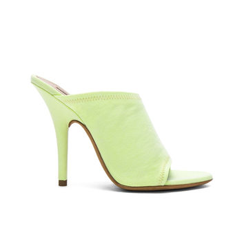 YEEZY Season 6 Canvas Mules in Faded Neon Yellow | FWRD