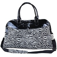Zebra Print Weekend Bag