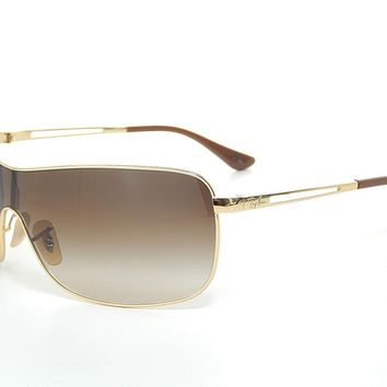 Ray Ban RB3466 001/13 Arista Gold / Brown Gradient 35mm Sunglasses