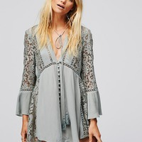 Free People Lovestoned Lace Bd Tunic