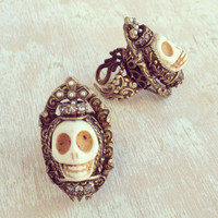 STATEMENT SKULL RING - MADE IN NYC