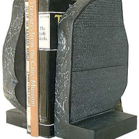 Rosetta Stone Fragment Egyptian Greek Statue or Home Decor Bookends 10H