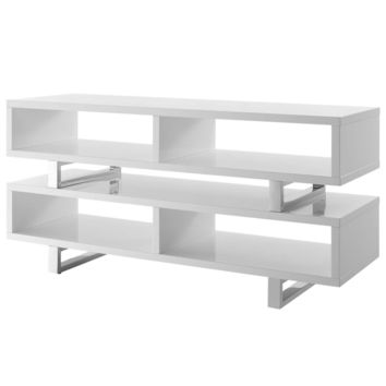 "Amble 47"" Contemporary Modern TV Stand White"