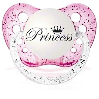 Personalized Pacifiers Princess Pacifier Glitter Pink