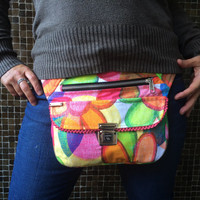 """Exclusive handmade Fanny Pack - Waist Bag - Handbag """"Happiness"""". From Barcelona with love! Unique Piece (943)"""