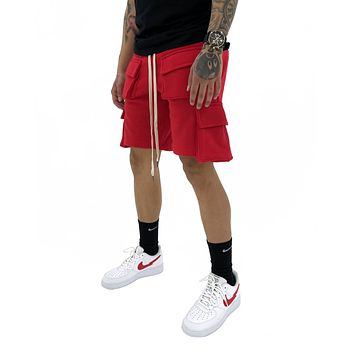 Cargo Shorts (Red)