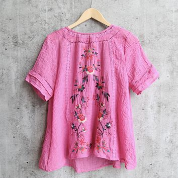 Embroidered Shirt in More Colors