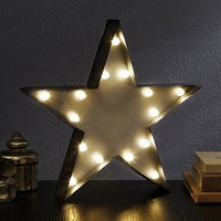 Star - LED Illuminated Marquee Sign - Christmas