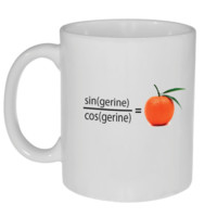 Trigonometry Tangerine Funny Coffee or Tea Mug
