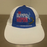 Vintage 90's The Olympic Woman 1996 Olympics Snapback Hat Promotional Advertising Cap Made By Avon