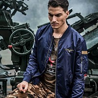 Men's Military Flight Coats Tactical Cardigan Jacket Coat