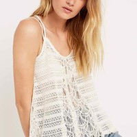 Pins & Needles Lace Mix Cami in Ivory - Urban Outfitters