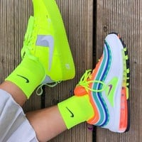 "Nike Air Max 97 Force 1 ""London - On Air""Rainbow running shoes"