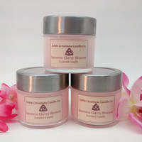 Scented Candle, Japanese Cherry Blossom, Soy Candle, Scented Soy Candle, Soy Candles, Aromatherapy Candles, Floral Scented, Cherry Scented