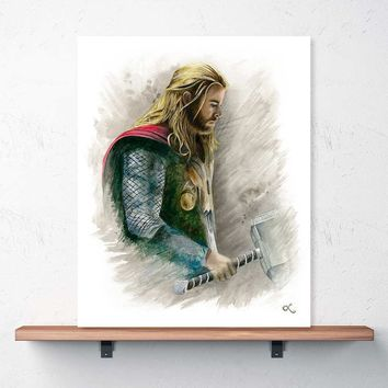 """The Mighty Thor"" Print (Chris Hemsworth)"