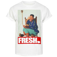 Fresh prince Bel Air throne swag will actual dope 90s tshirt smith unisex mens womens crew neck