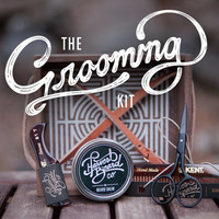 BEARD GROOMING KIT: Scissors, combs, & wax – Beard and mustache grooming accesories