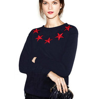 Knitted Jumper with Star Print