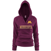 Minnesota Golden Gophers Ladies Maroon Rugby Vintage Hoodie Sweatshirt