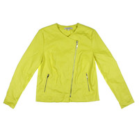 Ellen Tracy Womens Faux Leather Long Sleeves Motorcycle Jacket