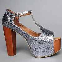 The Foxy Shoe in Pewter Glitter by Jeffrey Campbell Shoes   Karmaloop.com - Global Concrete Culture