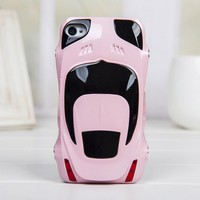 Sport Car Style Plastic Hard Cover Case for Iphone 4/4s -pink