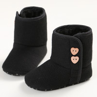 Baby Toddler Shoes Cotton Shoes Girls Snow Boots Soft-Soled Boots Winter 0-1 Years Old SMC101
