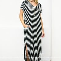 T-shirt Stripes Maxi Dress