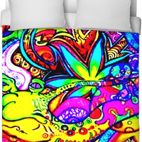 Weed Abstract Bed Sheet