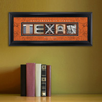 Personalized Texas University Architectural Art