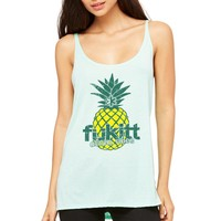 Pineapple Slouchy Tank 8838