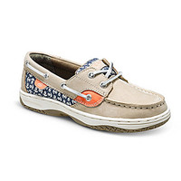 Sperry Top-Sider Girls' Bluefish Casual Boat Shoes - Silver Cloud/Anch