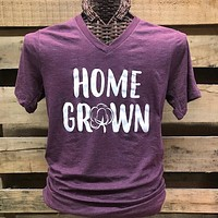 Southern Chics Apparel Home Grown Cotton V-Neck Canvas Girlie Bright T Shirt