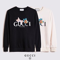 Gucci new sweater round neck 3D three-dimensional cat flower pattern fashion men and women hoodies