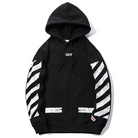 Off-White Women or Men  Fashion Casual Loose Top Sweater Pullover Hoodie