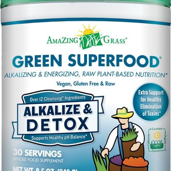 Amazing Grass Green SuperFood Alkalize & Detox, 8.5 Ounces