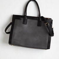 Menswear Inspired What're the Transits? Tote by ModCloth