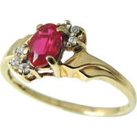 RUBY and DIAMOND Ring 10k Perfect Gift