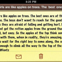 Girls are like apples on trees. The best ones are at the top... | Pete Wentz Picture Quotes | Quoteswave
