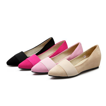 Pointed Toe Women Wedges Plus Size Shoes